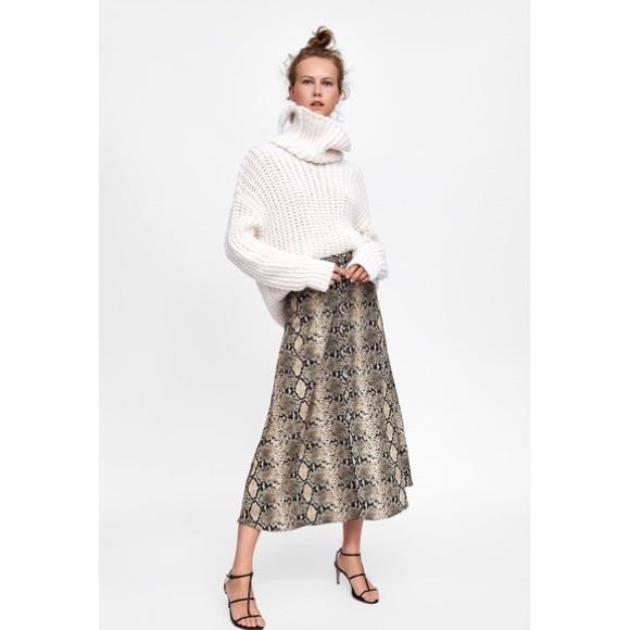 Zara Dresses & Skirts - NWT ZARA Snake Print Skirt Sz Med